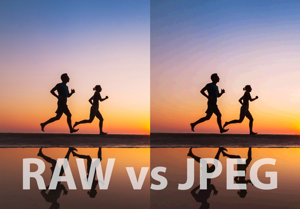 raw vs jpeg gradient